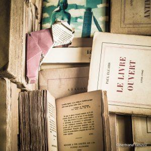Photo de vieux livres